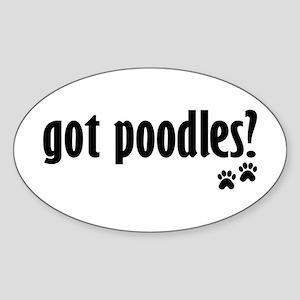 Got Poodles? Oval Sticker
