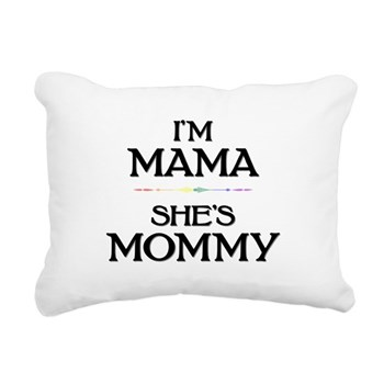 I'm Mama - She's Mommy Rectangular Canvas Pillow