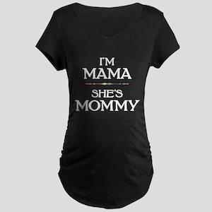 I'm Mama - She's Mommy Dark Maternity T-Shirt
