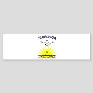 SURVIVOR - blue Bumper Sticker