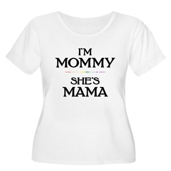 I'm Mommy - She's Mama Women's Plus Size Scoop Nec