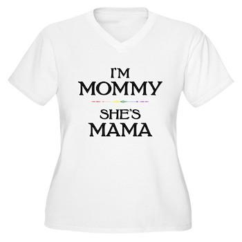I'm Mommy - She's Mama Women's Plus Size V-Neck T-
