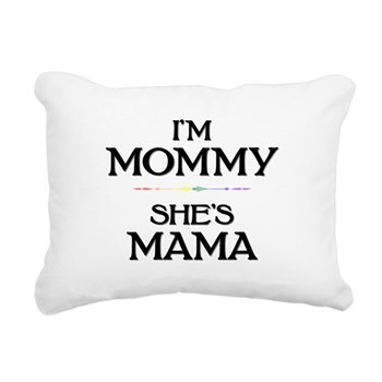 I'm Mommy - She's Mama Rectangular Canvas Pillow