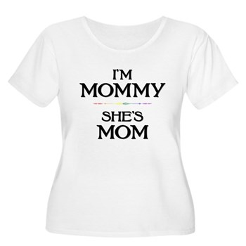 I'm Mommy - She's Mom Women's Plus Size Scoop Neck