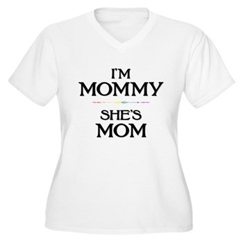 I'm Mommy - She's Mom Women's Plus Size V-Neck T-S