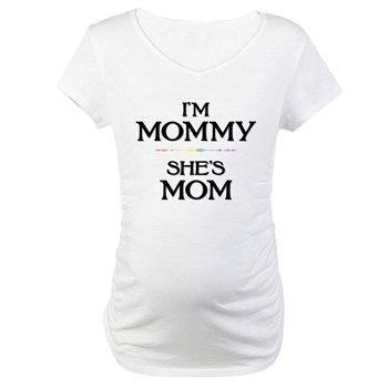 I'm Mommy - She's Mom Maternity T-Shirt