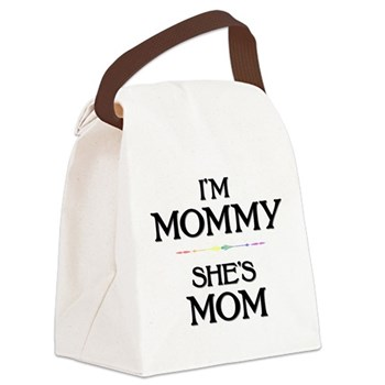 I'm Mommy - She's Mom Canvas Lunch Bag