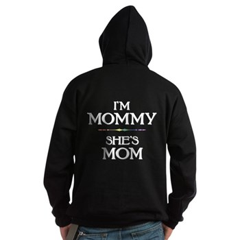I'm Mommy - She's Mom Dark Hoodie
