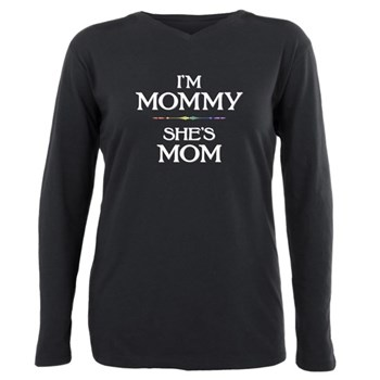 I'm Mommy - She's Mom Plus Size Long Sleeve Tee