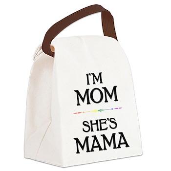 I'm Mom - She's Mama Canvas Lunch Bag