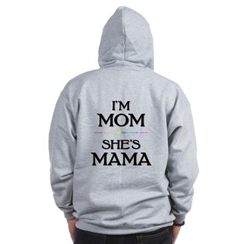 I'm Mom - She's Mama Zip Hoodie