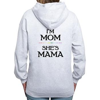 I'm Mom - She's Mama Women's Zip Hoodie
