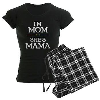 I'm Mom - She's Mama  Women's Dark Pajamas
