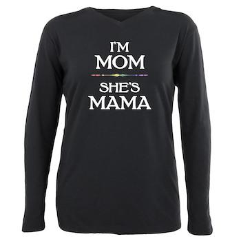 I'm Mom - She's Mama Plus Size Long Sleeve Tee