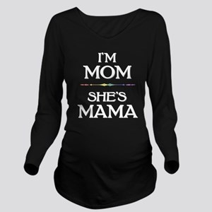 I'm Mom - She's Mama Long Sleeve Maternity T-Shirt