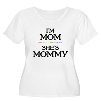 I'm Mom - She's Mommy Women's Plus Size Scoop Neck