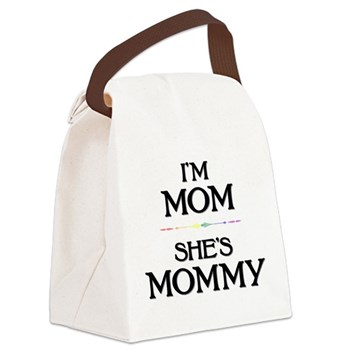 I'm Mom - She's Mommy Canvas Lunch Bag