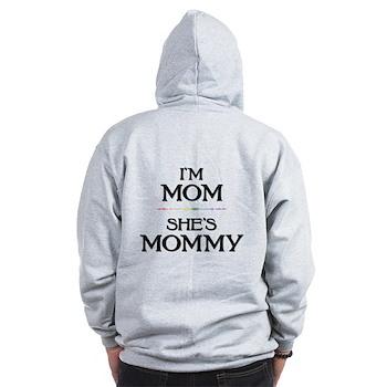 I'm Mom - She's Mommy Zip Hoodie