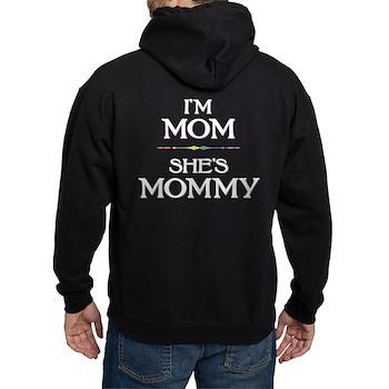 I'm Mom - She's Mommy Dark Hoodie