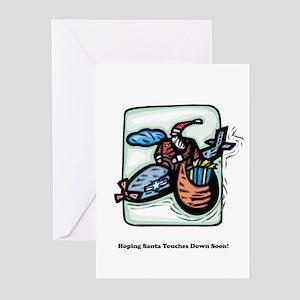 Santa Flying High Greeting Cards (Pk of 10)
