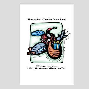 Santa Flying High Postcards (Package of 8)
