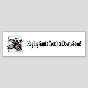 Santa Flying High Bumper Sticker