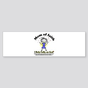 Mom of Faith Bumper Sticker