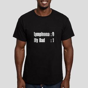 """My Dad Beat Lymphoma"" Men's Fitted T-Shirt (dark)"