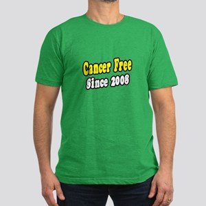 """Cancer Free Since 2008"" Men's Fitted T-Shirt (dar"