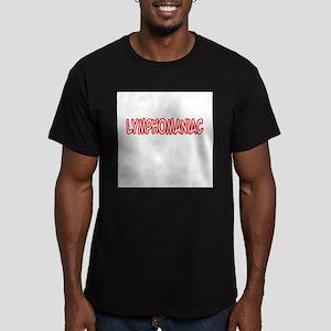 """""""Lymphomaniac"""" Men's Fitted T-Shirt (dark)"""
