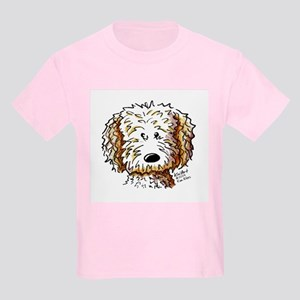 Doodle Dog Face Kids Light T-Shirt