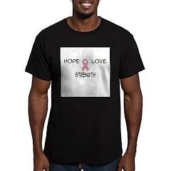 'Hope Love Strength' Men's Fitted T-Shirt (dark)