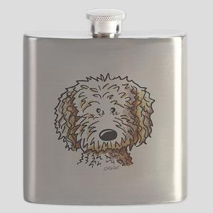 Doodle Dog Face Flask