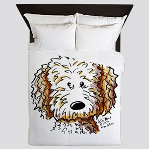 Doodle Dog Face Queen Duvet