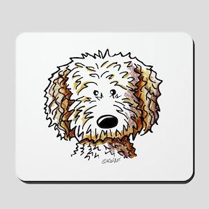 Doodle Dog Face Mousepad