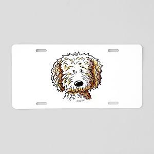 Doodle Dog Face Aluminum License Plate