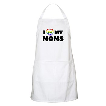 I Heart my Moms LGBT Apron