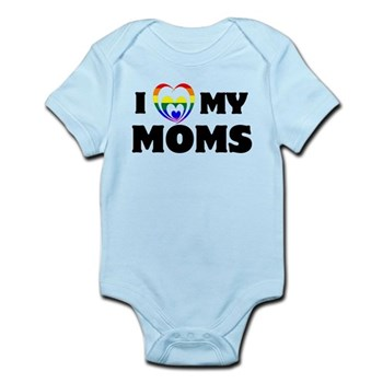 I Heart my Moms LGBT Infant Bodysuit
