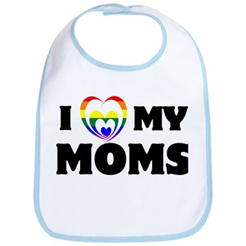 I Heart my Moms LGBT Bib