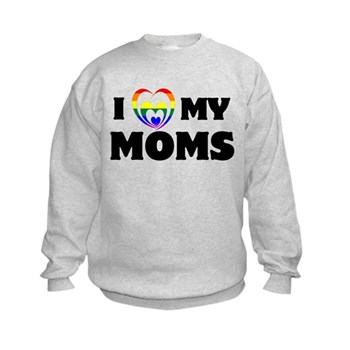 I Heart my Moms LGBT Kids Sweatshirt