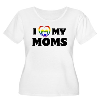 I Heart my Moms LGBT Women's Plus Size Scoop Neck