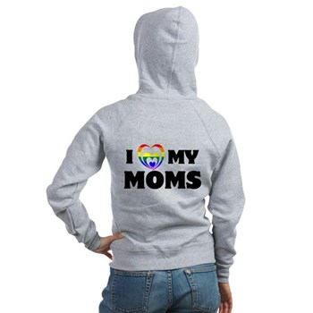 I Heart my Moms LGBT Women's Zip Hoodie