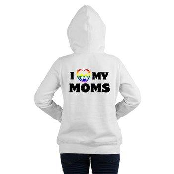 I Heart my Moms LGBT Women's Hooded Sweatshirt