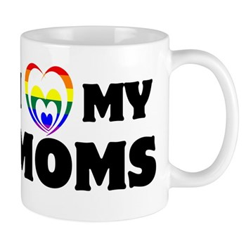 I Heart my Moms LGBT Mug