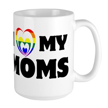 I Heart my Moms LGBT Large Mug