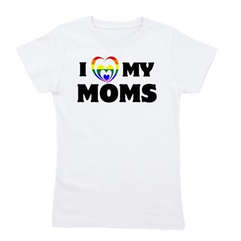 I Heart my Moms LGBT Girl's Tee