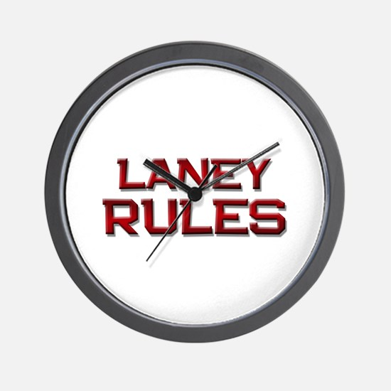 laney rules Wall Clock