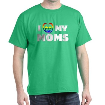 I Heart my Moms LGBT Dark T-Shirt