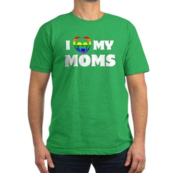 I Heart my Moms LGBT Men's Dark Fitted T-Shirt