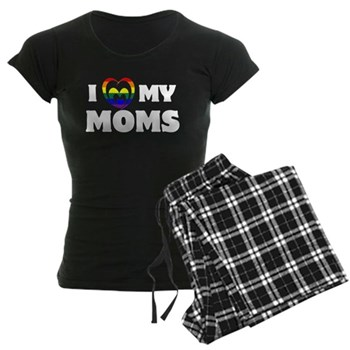 I Heart my Moms LGBT Women's Dark Pajamas